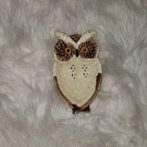 Vintage| Owl Hand painted Stamped Japan